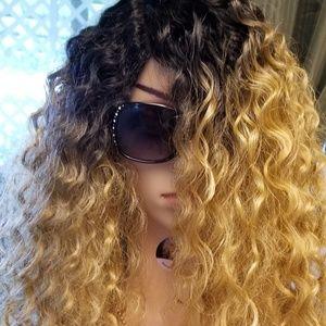 Tina Beach Wavy Curls 100% Human Hair Blend  Custo